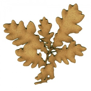 English Oak Leaves MDF Wood Shape