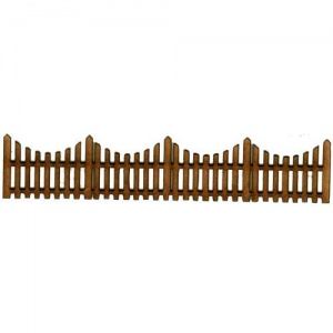 Picket Fence Panel MDF Wood Shape - Style 1