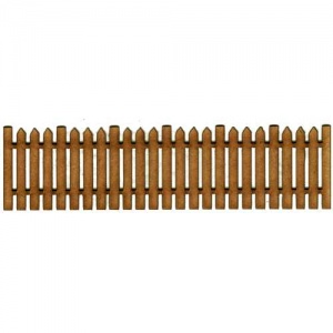 Picket Fence Panel MDF Wood Shape - Style 3