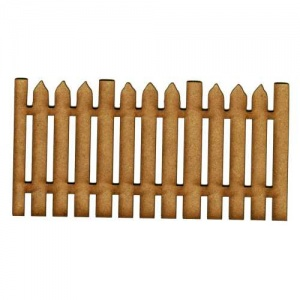 Chunky Picket Fence Panel MDF Wood Shape - Style 5