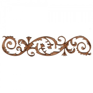 Floral Flourish MDF Wood Border Embellishment