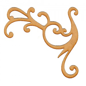Peacock Flourish MDF Wood Shape