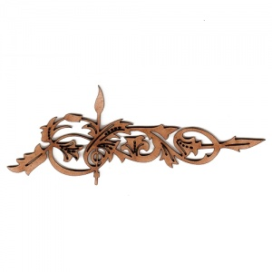 Baroque Fancy Leaf Flourish MDF Wood Shape