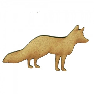 Gazing Fox MDF Wood Shape Style 3