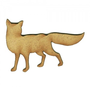 Alert Fox MDF Wood Shape Style 4