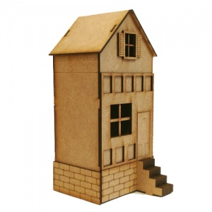 Framed Townhouse with Steps - MDF House Kit