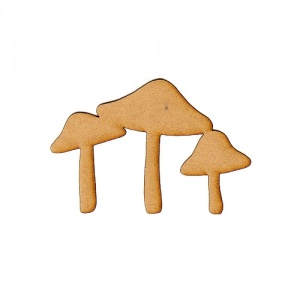 Group of 3 Toadstools Silhouette - MDF Wood Shape