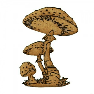 Mushrooms - Fungi MDF Wood Shape 14 - Spotted Toadstools
