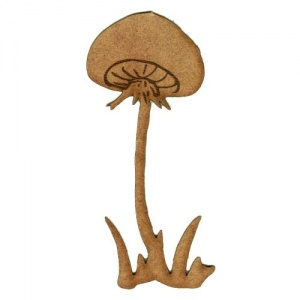 Long Stemmed Field Mushroom  - MDF Wood Shape