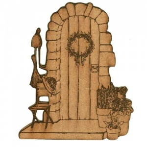 Garden Door Scene - MDF Wood Shape