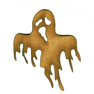 Ghastly Ghost MDF Wood Shape - Style 3
