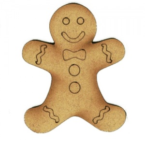 Iced Gingerbread Man - MDF Wood Shape Style 1