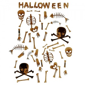 Bones - Sheet of Halloween Mini Wood Shapes