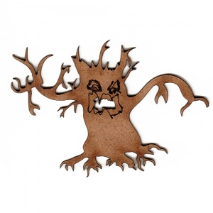 Halloween Skeleton Tree MDF Wood Shape