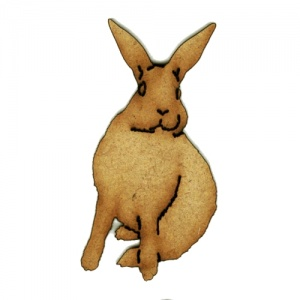 Alert Hare MDF Wood Shape Style 5