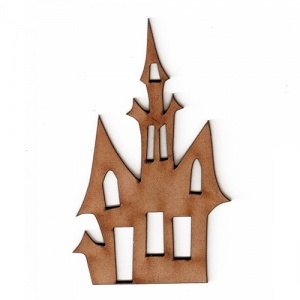 Haunted House with Tower - MDF Wood Shape