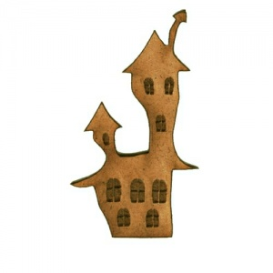 Haunted Wonky House - MDF Wood Shape