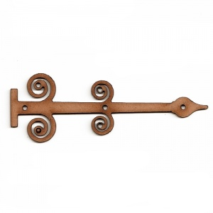 Curlicue Decorative Hinge MDF Wood Shape