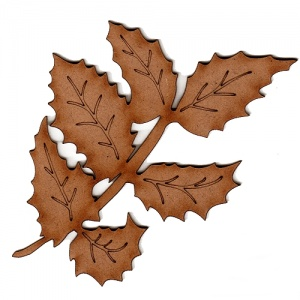Holly Leaf Sprig - MDF Wood Shape