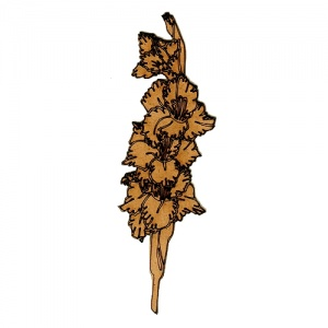 Hollyhock Flower Stem MDF Wood Shape