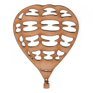 Hot Air Balloon MDF Wood Shape Style 1