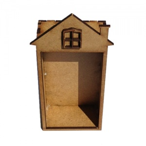 Plain MDF House / Shrine Kit - Tall with Window