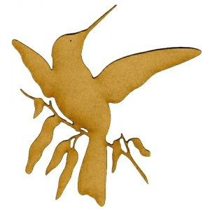 Hummingbird MDF Wood Bird Shape