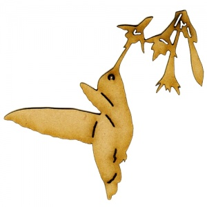 Hovering Hummingbird MDF Wood Bird Shape