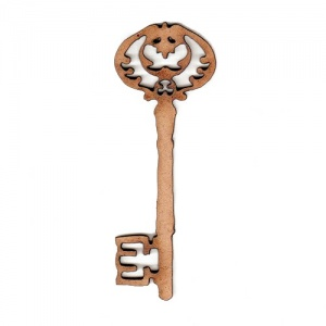 Ornate Key Style 2 MDF Wood Shape x 2