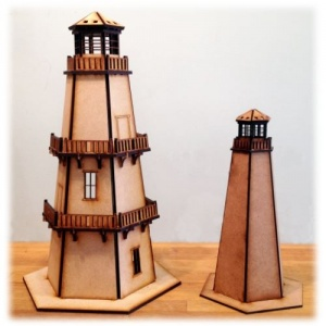 MDF Lighthouse Kits - Plain or Engraved