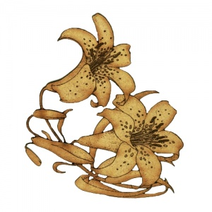 Lily Flowers - MDF Floral Wood Shape Style 52