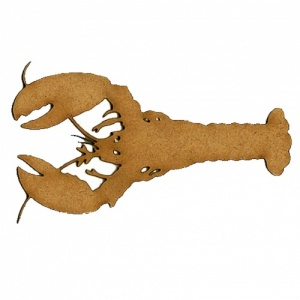 Lobster MDF Wood Shape Style 2
