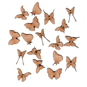 Sheet of Mini MDF Wood Butterflies - Style 5