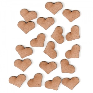 Country Heart Shape - Mini MDF Wood Plaques