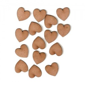 Heart Shape - Mini MDF Wood Plaques