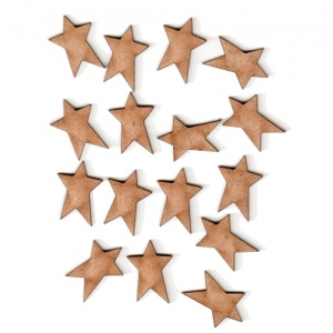 Primitive Star Shape - Mini MDF Wood Plaques