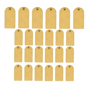 Sheet of Mini MDF Tags - Rounded Top