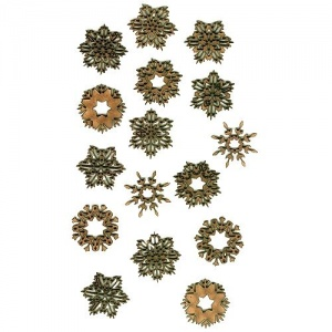 Sheet of Mini MDF Christmas Wood Shapes - Snowflakes 3