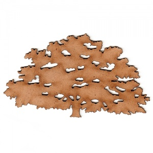 Oak Tree MDF Wood Shape - Style 2