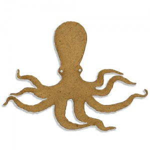 Octopus Silhouette - MDF Wood Shape