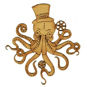 Steampunk Octopus - MDF Wood Shape