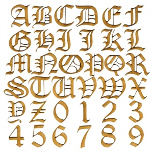 MDF Letters & Numbers - Olde English Font