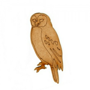 Barn Owl - MDF Wood Bird Shape