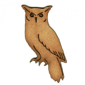Great Horned Owl MDF Wood Shape