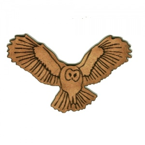 Flying Barn Owl MDF Wood Shape - Style 1