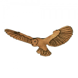 Flying Barn Owl MDF Wood Shape - Style 3