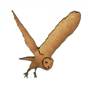 Flying Barn Owl MDF Wood Shape - Style 4