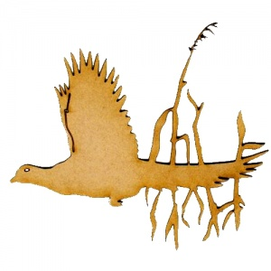 Flying Pheasant MDF Wood Bird Shape