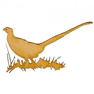 Pheasant MDF Wood Bird Shape