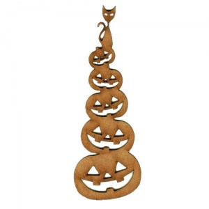 Pumpkin Man MDF Wood Shape